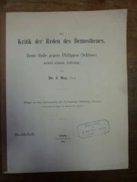 May, Zur Kritik der Reden des Demosthenes – Erste Rede gegen Philippos (Schluss)