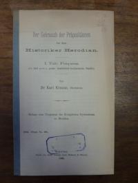 Krause, Der Gebrauch der Präpositionen bei dem Historiker Herodian – I. Teil: Fr