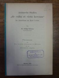 "Hofmann, Aristarchs Studien ""de cultu et victu heroum"" im Anschluss an Karl Lehr"