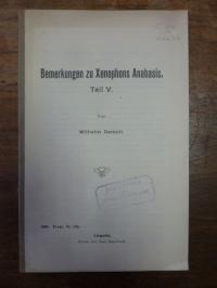 Gemoll, Bemerkungen zu Xenophons Anabasis – Teil V.,