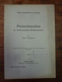 Wegehaupt, Plutarchstudien in italienischen Bibliotheken,