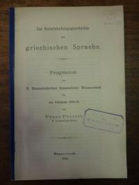 Prestel, Zur Entwicklungsgeschichte der griechischen Sprache,