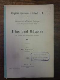 Wiemer, Ilias und Odyssee als Quelle der Biographen Homers – II,