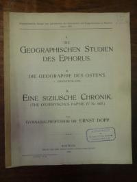 Dopp, I. Die geographischen Studien des Ephorus – Teil 2. Die Geographie des Ost