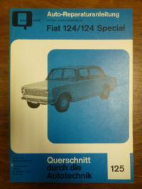 FIAT, Auto-Reparaturanleitung mit Maß– und Einstelltabellen für: Fia