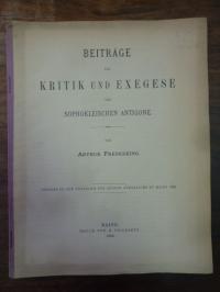 Frederking, Beiträge zur Kritik und Exegese der Sophokleischen Antigone,