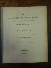 Mucke, De consonarum in Graeca lingua praeter Asiaticorum dialectum Aeolicam gem