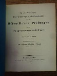 Homer / Schwenck, Teil 1: Odyssee XI – Teil 2: Schulnachrichten (J. T. Vömel) ,