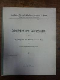 Mann, Rolandslied und Rolandsäulen – Zur Lösung eines alten Problems auf neuem W