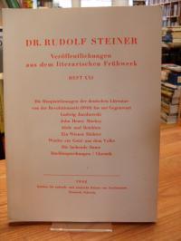 Steiner, Veröffentlichungen aus dem literarischen Frühwerk – Die Hauptströmungen