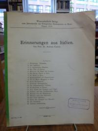 Europa / Italien / Curtius, Erinnerungen aus Italien,