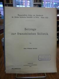 Kottcke, Beiträge zur französischen Stilistik,