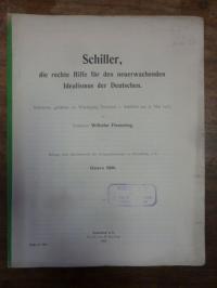 Flemming, Schiller, die rechte Hilfe für den neuerwachenden Idealismus der Deuts