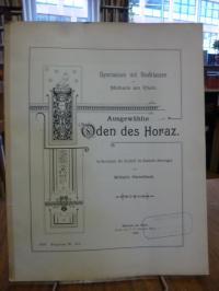 Horaz / Schoenberger, Ausgewählte Oden des Horaz. Im Versmaße der Urschrift ins