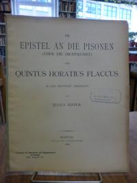 Quintus Horatius Flaccus / Kipper, Die Episteln an die Pisonen (Über die Dichtku