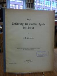 Horaz / Ammann, Zur Erklärung der zweiten Epode des Horaz,