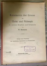 Hartmann, Konstantin der Grosse als Christ und Philosoph in seinen Briefen und E