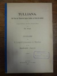 Stangl, Tulliana – Der Text des Thesaurus linguae Latinae zu Cicero de oratore,