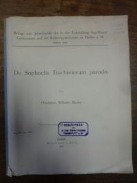 Martin, De Sophoclis Trachiniarum parodo,