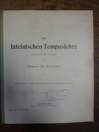 Rickmann, Zur lateinischen Tempuslehre (Relativität der Tempora),