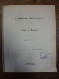Reuss, Lateinische Stilübungen im Anschluss an Livius und Tacitus,