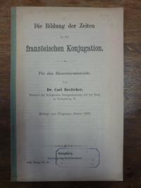 Boettcher, Die Bildung der Zeiten in der französischen Konjugation.,