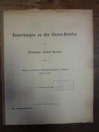 Sander, Bemerkungen zu den Cicero-Briefen,