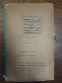 John, Zum Dialogus des Tacitus [Cap. 5. – Cap. 25.],