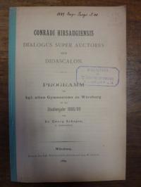 Conradi Hirsaugiensis / Schepps, Conradi Hirsaugiensis Dialogus super auctores s