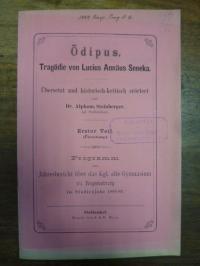 Seneca / Alphons Steinberger, Ödipus – Tragödie von Lucius Annäus Seneka – Übers