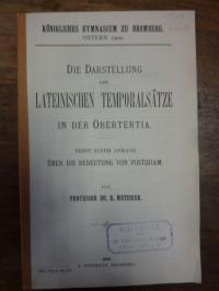 Methner, Die Darstellung der lateinischen Temporalsätze in der Obertertia – Nebs