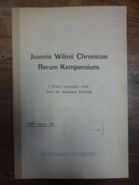 Terwelp , Joannis Wilmii Chronicon Rerum Kempensium,