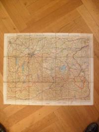 Brunn's Tourenkarte von Oberbayern mit den angrenzenden Ländern Nord