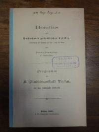 Horaz / Franziszi, Horatius als Nachahmer griechischer Lyriker (hauptsächlich mi