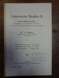 Baltzer, Lateinische Studien II,