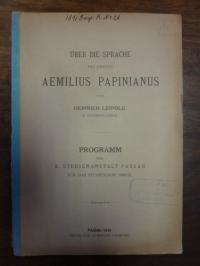 Leipold: Über die Sprache des Juristen Aemilius Papinianus