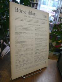 Börsenblatt für den Deutschen Buchhandel – Frankfurter Ausgabe, Archiv für Gesch