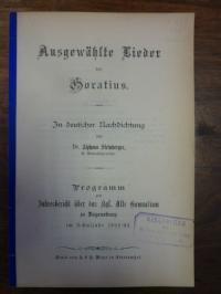 Steinberger, Ausgewählte Lieder des Horatius – in deutscher Nachdichtung,