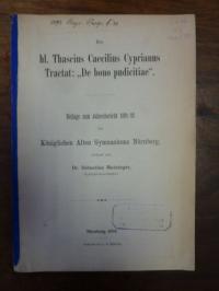 """Matzinger, Des hl. Thascius Caecilius Cyprianus Tractat: """"De bono pudicitiae"""","""
