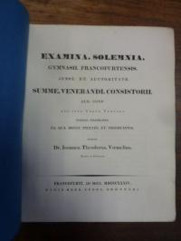 Voemelius, Teil 1: Notitia Codicum Demosthenicorum II, Teil 2: Schulnachrichten,