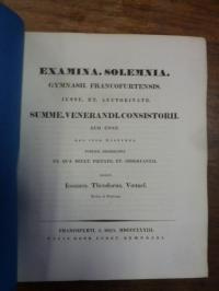 Voemelius, Teil 1: Notitia Codicum Demosthenicorum I, Teil 2: Schulnachrichten,