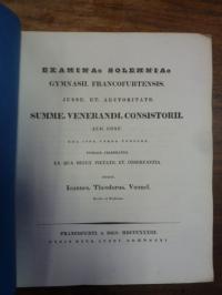 Voemelius, Teil 1: Quo Anno Thurii conditi sint?, Teil 2: Schulnachrichten,