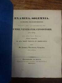Voemelius, Teil 1: Notitia Codicum Demosthenicorum V, Teil 2: Schulnachrichten,