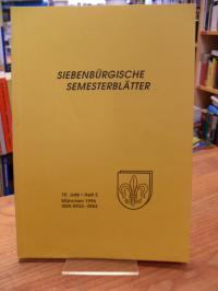 Rumänien / Harald Roth (Hrsg.), Siebenbürgische Semesterblätter – 10. Jahr – Hef