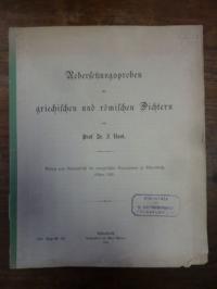 Rost, Uebersetzungproben aus griechischen und römischen Dichtern,