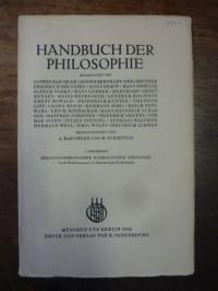 Przywara, Religionsphilosophie  katholises, In: Handbuch der Philosophie, Abteil