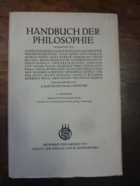 Kuntze, Erkenntnistheorie, In: Handbuch der Philosophie, Abteilung I: Die Grundd