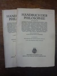 Stenzel, Metaphysik des Mittelalters, Teile I und II, In: Handbuch der Philosoph
