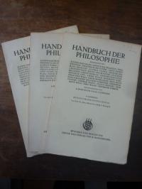 Dempf, Metaphysik der Neuzeit, Teile I, II und III, In: Handbuch der Philosophie