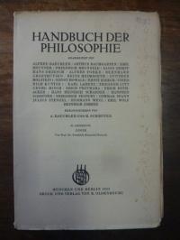 Kuntze, Logik, In: Handbuch der Philosophie, Abteilung I: Die Grunddisziplinen,